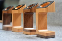 wooden stand - Wooden wood Stand Holder for Apple Watch Charger Fashion Docking Station Stand Holder for iWatch mm mm Walnut Cherry