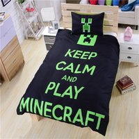 bed sheets - Keep Calm and Play Minecraft Bedding Bed Sheets Black New Unique Hot Minecraft Bedding Dropship