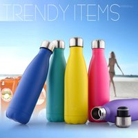 stainless steel double wall bottle - 100pcs lot500ml Double Walled Vacuum Insulated Stainless Steel Sport Water Bottle Many Colour Option BPA Free