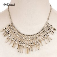 antique india jewelry - Latest Turkish Jewelry for Women Fashion Vintage Boho Chunky Choker Necklaces Antique Silver Plated Tassel Statement Necklace India NL160604