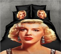 Cheap Bedding set Marilyn Monroe 3D Oil printing bedclothes duvet cover Rose sheet pillowcase bed set comforter cover set, set of bed