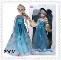 Wholesale 12 Joint Can Moveable Wearing Crown Boneca Frozen Elsa Doll With Original Box Princess Elsa Toys Girls good quality