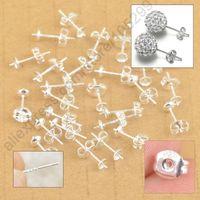 Wholesale Stock Jewelry Findings Bulk Sterling Silver Ear Pin Pairs Stud Earrings BACK STOPPERS Post Handmade