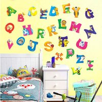 alphabet wall paper - A Z Alphabet Animals Removable Wall Sticker Decals Decor Kids Nursery Vinyl UKP6