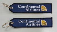 airline continental - Continental Airlines Embroidered Key Chain Keychain Banner x cm