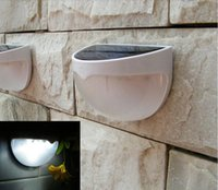 Wholesale Super bright LEDs Sensor Solar Powered Light Outdoor Lamp LED Wall Light Garden Lamp ABS PC Cover Color Package Home Stair Waterproof ligh