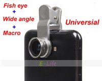 Cheap Universal 3 In 1 Mobile Phone Lens kit Fish Eye lens + Macro + Wide Angle camera Kit Set for samsung galaxy s3 s4 n7100 HTC LG
