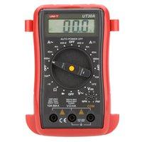 Wholesale UNI T UT30A Palm Size LCD Digital Multimeter Meter Tester AC DC Ammeter Voltmeter Ohmmeter w hFE Test