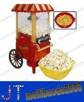 popcorn machine maker - diy mini carriage shape nostalgic hot air popcorn machine poper pop corn maker with EU plug red kg MYY13930