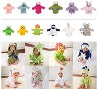Wholesale Children s bathrobe cm pure cotton Baby household Cartoon modelling bathrobe home clothes