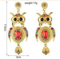 Wholesale New Design Environmental alloy rhinestone earrings earrings owl spot ER