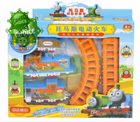 Wholesale Electric Thomas the train toy assembled orbit small train stalls selling toys diecast car model toys car