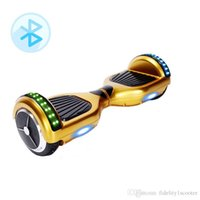 Wholesale Hover Board Skateboard RGB Scooter LED Light Self Balancing Scooters Bluetooth Speakers Samsung Battery CE FCC ROHS UL Charger