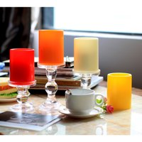 Wholesale Simplux X4 Inch Flameless Plastic Pillar Led Candle Light With Timer Battery operate Centerpieces Home Decor Wedding Lights