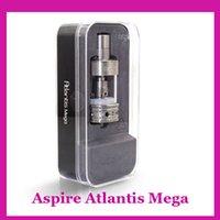 Wholesale New Aspire Atlantis Mega Sub Ohm tank ml Atomizer Vaporizer fit ESP W CF Maxx kbox w CF sub MOD vs kanger subtan Horizon Arctic