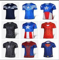 shirts - 2015 new men t shirt superman Iron Man batman spider man short sleeve t shirt men s clothing cycling jerseys Superhero Movie t shirts ZSH11