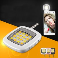 Wholesale 2016 Hot Portable Smartphone Phone Selfie Mini LED Camera Flash Fill Light For IOS Android New