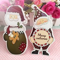 Wholesale 29 Pictures Irregular Shape Christmas Greeting Cards Wish Cards Messages Cards With Strings Christmas Trees Ornaments Decoration