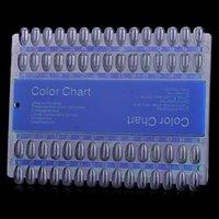 Wholesale 60 in Nail Polish Color Chart Display Board Nail Art Kits Transparent Blue cm x cm x cm g