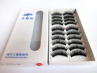 Wholesale Bushy False Eyelashes styles sets pairs in Plastic Black False Eyelash High Quality Purely Manual Eyelashes up sale