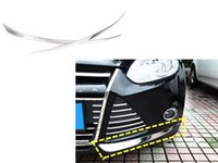 Cheap Car Auto Accessories Front Bumper Trim Protector Strip Anti-Collision Strip For Ford Focus 3 MK3 2012 2013 Stainless Steel 2pcs