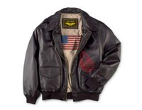 air force leather bomber jacket - Fall New men Air Force A2 Flight Bomber suede genuine leather jacket for Harley motorcycle