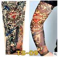 Wholesale 140 colors New Fashion Unisex UV Protection nylon tattoo sleeve stretchy Arm Stocking fake tattoo Apparel tattoo sleeve LJJC1244
