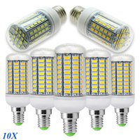 Wholesale Super Bright Dimmable E12 E14 E26 B22 G9 GU10 LED Corn Light Bulbs W W W W W W LEDs SMD5730 LED Lamps
