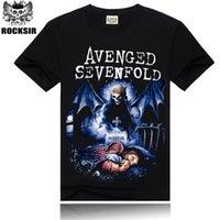 avenged sevenfold shirt - Rocksir Cotton Men T Shirt D Tshirt Skull Avenged Sevenfold Print Rock Hip Hop Punk Hipster Tee Homme Camisa Masculina