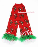 autumn kelly baby girl - Xmas Newborn Girl Baby Christmas Stick Leg Warmers Leggings With Kelly Green White Ruffles MALG262