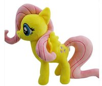 Wholesale My Pony Fluttershy Friendship Is Magic Little Cute Plush Pony Toys Action Doll For Children Birthday Holiday Christmas Little Gift