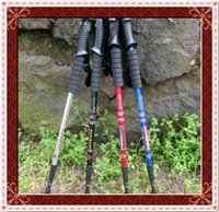 best hiking sticks - Factory Price Alpenstock Walking Sticks Hiking Pole Four Joint Alpenstock Best Sale High Quality