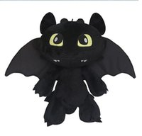 Wholesale 12 inch Dragon Master Oothless Night Fury plush toys for sale cm The cartoon film dragon master Toothless plush toy doll