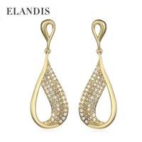 Wholesale Cubic zirconia Water drop Earrings for women ELANDIS brand new fashion design accessories geometric earrings BE00003