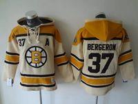 Wholesale Cheap Boston Bruins hockey jerseys bergeron Cheap Hockey Hooded Stitched Old Time Hoodies Sweatshirt Jerseys hockey jerseys