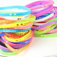 Wholesale Sports silicone bracelet character in the English letters silicone sports real color wrist band