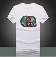 anti fur fashion - 2016 New male hedging short sleeved cotton round neck T shirt sleeve head shirt Men