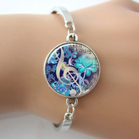 arts friendship - G Clef Bracelet Music Note Bangle Jewelry Set Glass Dome Art Picture Silver Plated Cuff Bangle New Friendship Bracelet