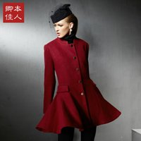 Cheap Pretty Woman 2014 fall and winter clothes new European and American big solid color collar wool coat female coat