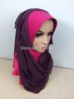 arabic turban hijab - Islamic women chiffon hijab high quality malaysia hijab muslim arabic scarves bandanas turban ninja underscarf