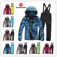 Wholesale rossignol fashion men ski suit new Combination men ski jacket men pants windproof waterproof ski wear