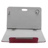 Wholesale 7inch Universal Vertical PU Leather Case with Invisible Aluminum Magnetic Button for Tablet PC Pink SKU