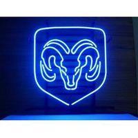 auto neon light - NEW DODGE RAM AUTO LOGO NEON SIGN HANDICRAFT REAL GLASS TUBE BEER BAR LIGHT GAME ROOM SHOP x15 quot