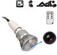 Wholesale WOW SPY HIDDEN LED Light Bulb Camera Mini DV Night Vision Voice Remote P in stock