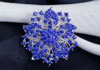bauhinia crystal gifts - 2016 The new Korean jewelry luxury full diamond gem diamond brooch crystal brooch Bauhinia large wreath brooch clothing