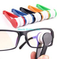 Wholesale 2015 New Arrival Essential Microfibre Glasses Lens Cleaner Spectacles Sunglasses Eyeglass Cleaner Clean Wipe Brush Home Office