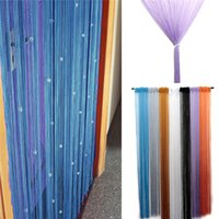 bead string partitioning - Hot Sale Romantic Beads Design Beaded Crystal Curtain String Door Window Curtain Divider partition Tassel Decoration x200cm