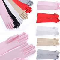 Wholesale 1 Pair Women Girls Fashion Warm Opera Evening Party Satin Arm Hand Sleeve Long Gloves Beauty Decoration Multicolors Sale