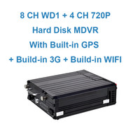 Wholesale 8 CH WD1 CH P Hard Disk Mobile DVR with Built in GPS Built in G Built in WIFI Module Optional