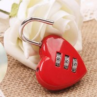 Wholesale D168 mini diary combination of hearts red lock